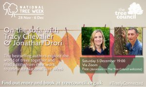on the sofa with tracy chevalier and jonathan drori
